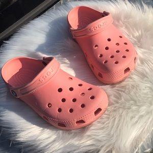 Girls size 7 crocs